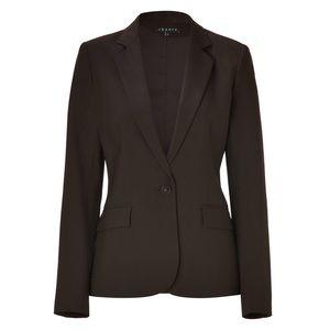 Theory Sz 00 Brown Gabrielle Tailored Blazer